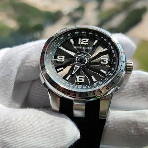 Image 5 - New Reef Tiger/RT Military Watches for Men Steel Automatic Watches Rubber Strap Whirling Dial Sport Watch RGA3059
