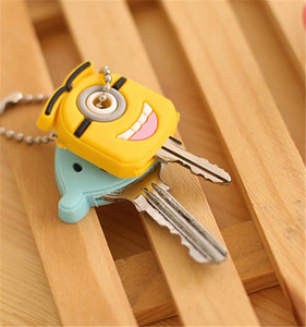 Lovely Cartoon Silicone Protective Key Case Cover For Key Control Dust Cover Holder Animation Figures key Pendant Key Holder-1PC