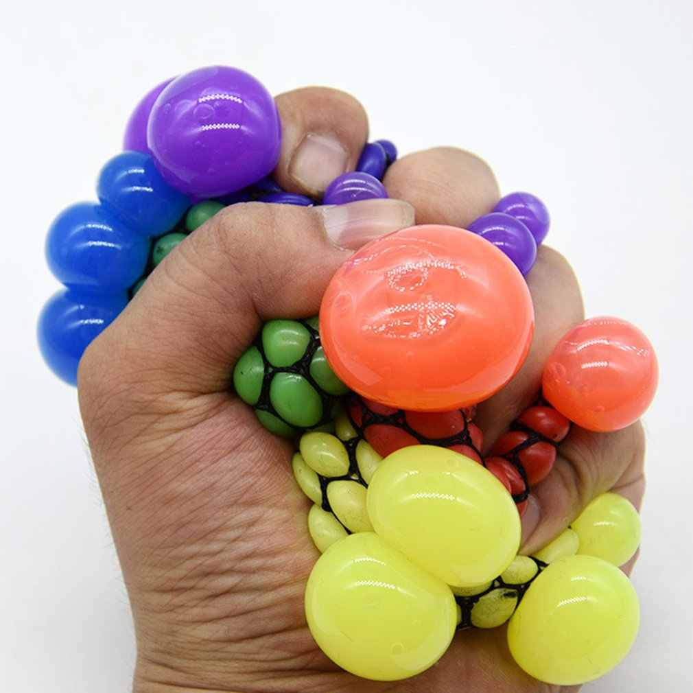 Novetly Grappige Squeeze Bal Leuke Stress Bal Hand Pols Oefening Anti-stress Slime Druif Bal Speelgoed Grappig Gadgets speelgoed Gift