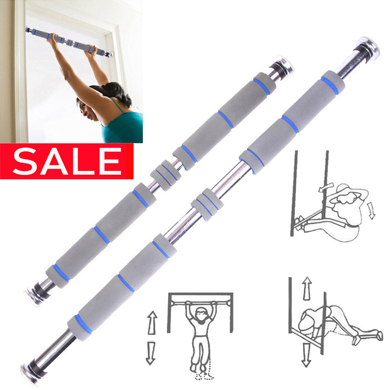 Door Horizontal Steel Adjustable Training Bars For Home Sport Bar Workout Pull Up Arm Training Sit Up Bar Fitness Push Up Equipm image