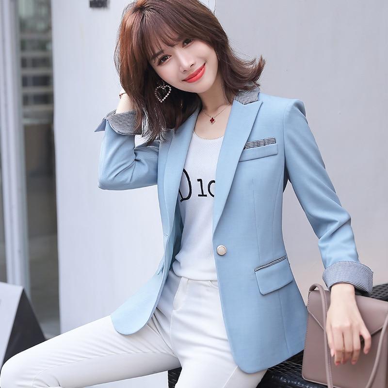 Feminine Small Suit Spring 2020 New Professional Office Jacket Casual High Quality Casual Ladies Blazer Fashion Elegant Coat