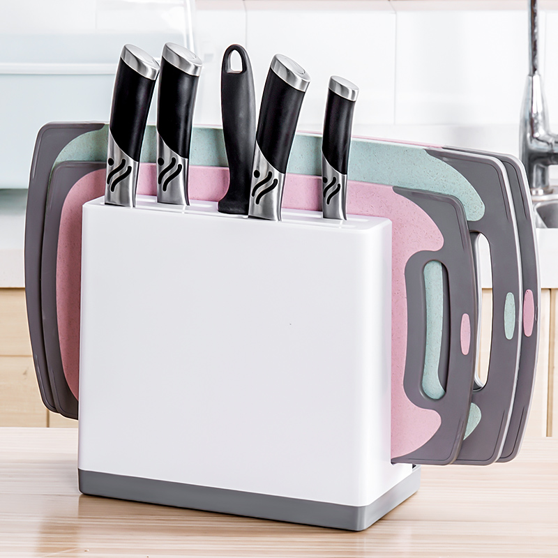 Multifunction Scissors Knife Holder Cutting Board Holder  Draining Rack Storage  Shelf  Kitchen Organizer
