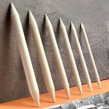 6pcs/set Blending Smudge Stump Stick Tortillon Sketch Art White Drawing Charcoal Sketcking Tool Rice Paper Pen Supplies