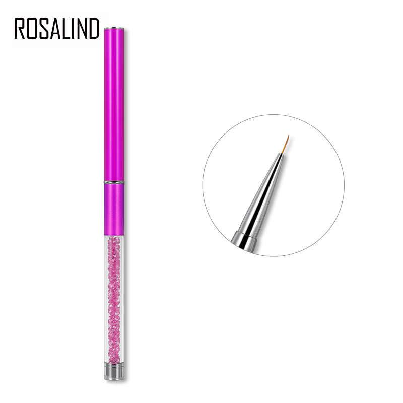 ROSALIND cepillos de manicura acrílico pincel de uñas pintura Vernis Semi permanente LED UV GEL uñas para todos los juegos de herramientas de manicura