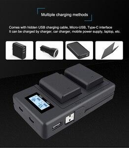 Image 4 - PALO 2 adet 2000mAh NP FW50 NP FW50 kamera pil + LCD USB çifte şarj makinesi Sony Alpha a6500 a6300 a6000 a5000 a3000 NEX 3 a7R
