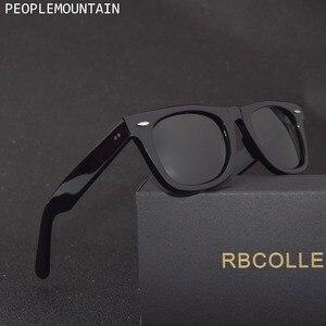 Image 1 - Gafas de sol con lentes de cristal para hombre y mujer, lentes de sol unisex con diseño Vintage, adecuadas para conducir, gafas para nadar reflectantes, cuadradas y elegantes