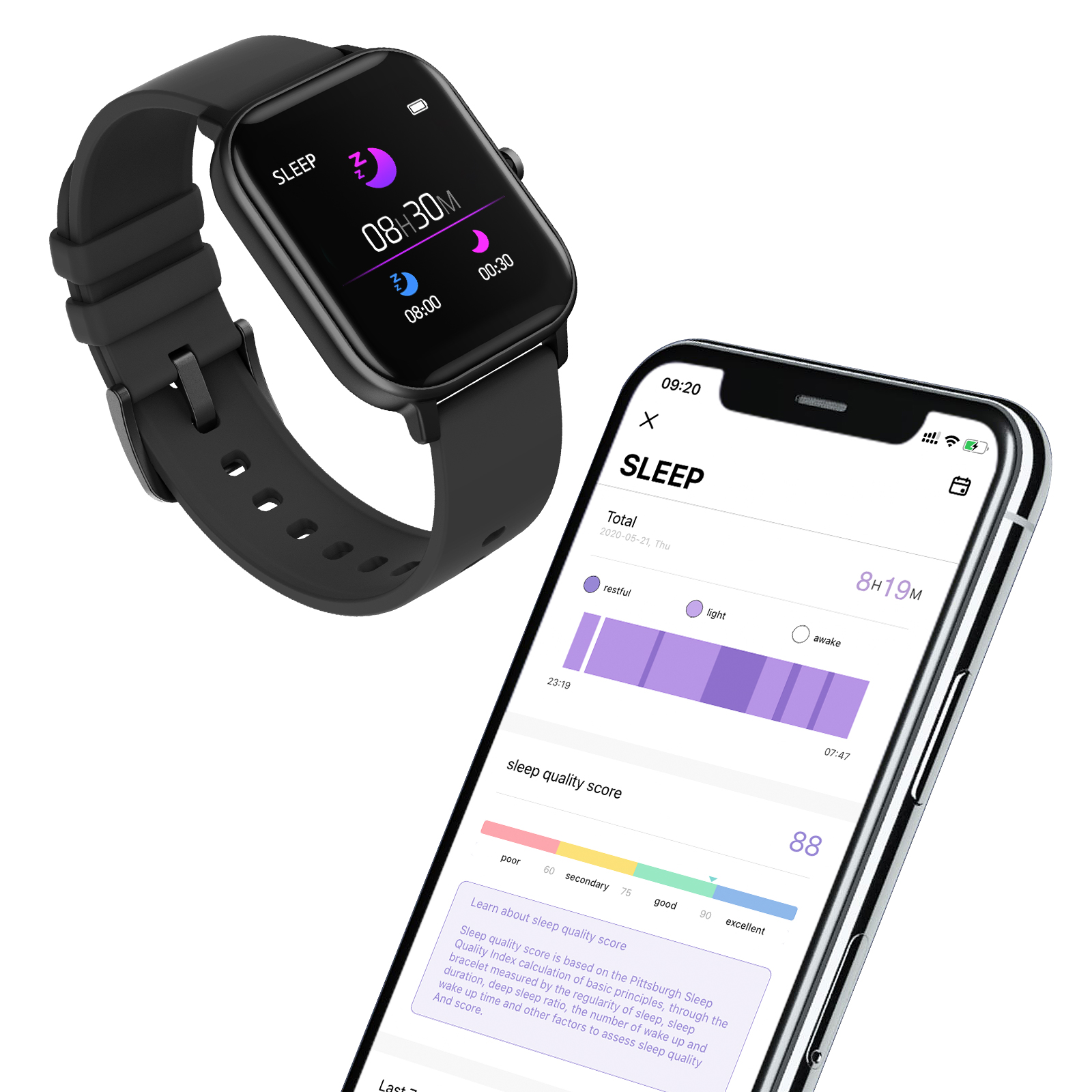 COLMI P8 Pro Smart Watch with Heart Rate Monitor 6