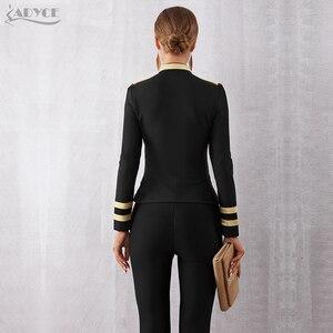 Image 5 - Adyce 2020ฤดูใบไม้ผลิใหม่ผู้หญิงแฟชั่นผ้าพันคอSlim Trench Coatเซ็กซี่สีดำด้านหน้าซิปคนดังเสื้อโค้ทแขนยาวClubเสื้อ