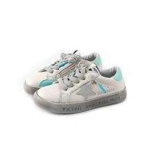kids shoes PU leather old style sneakers girls fashion white flat star soft sloe boys Platform casual Noctilucent sneaker