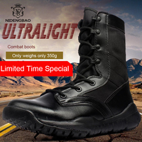 Super Light Men Boots Big Size 45 Summer Fashion Mesh Motorcycle Shoes Motocross Boots for Men Black Footwear Sneakers Boot Male