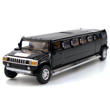 1:32 Scale Diecast Simulator Model Car Hummer H2 Limousine Classic Vehicle Metal Alloy Toy Car For Boy Children Gift Collection new arrival gift lp700 matte 1 18 model car collection alloy diecast scale table top metal vehicle sports race decoration toy