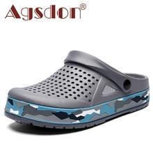 Comfortable Men Sandals Crocse Clogs EVA Garden Shoes Man Slip-On Summer Beach Sandals Slippers Outd