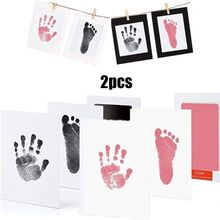 Pet Baby Handprint Footprint Ink Pads Kits Safe Non-toxic for Baby Shower Pet Cat Dog Paw Print Souvenir Gift C42