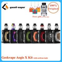 Newest Geekvape Aegis X kit E cigarette vape 200W Box Mod fit 5.5ml cerbrus tank/Aero Mesh atomizer IP67 Waterproof vape kit