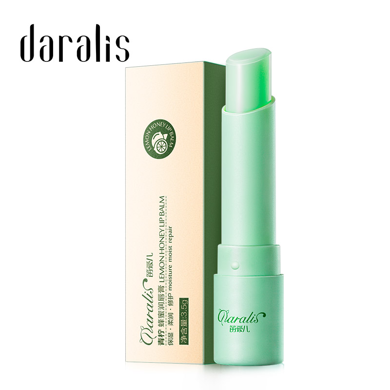Daralis 3.5g Lime Lip Balm Moisturizing Lipstick Baby Lipbalm Anti Aging Anti-wrinkle Nonstick For Lips Skin Care Dryness Beauty