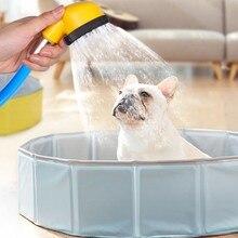 Haustier Hund Bad Sprayer Massage Baden Dusche Kopf PVC Weichen Schlauch Hund Bad Shampoo Hundesalon Pinsel Für Hunde Katzen reiniger Liefert