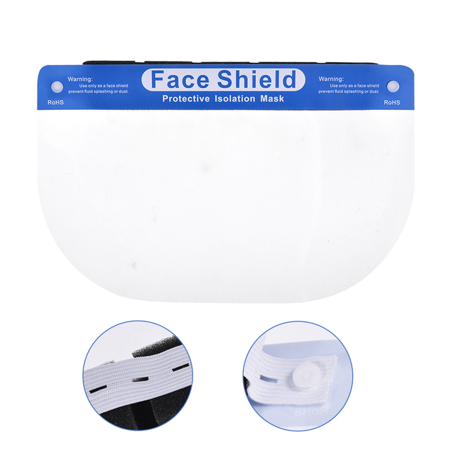 10PCS Adjustable Transparent Face Shield Splash-proof Ultra-light  Full Face Face Mask Anti-Fog Anti-Droplets Hat Face Shield 1