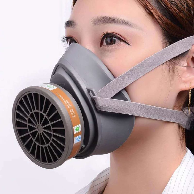 1Set Silicone Respirator Anti-dust Face Mask Industrial Protective Cover Filter DropShip