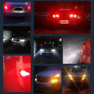 Image 5 - 1pcs 1156 BA15S P21W 1157 BAY15D LED נורות 80SMD 3014 שבבי סופר בהיר 1200LM 3D תאורת רכב הפעל אות אורות הפוך 12V