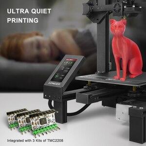 Image 4 - LONGER LK4 PRO 3D เครื่องพิมพ์หน้าจอสัมผัสขนาดใหญ่เปิด TMC2208 Quiet การพิมพ์ 3D พิมพ์ใหม่กรอบออกแบบ 3D ชุดเครื่องพิมพ์