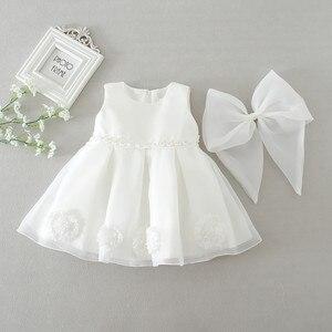 Одежда для малышей, однотонное платье для новорожденных девочек, однотонные официальные платья, праздничное белое платье принцессы с цветами|Платья|   | АлиЭкспресс