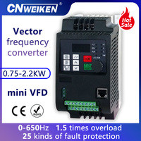 WK310/WK600 380V 0.75kw/1.5kw/2.2kw VFD 3 Phase Motor frequency conversion speed controller