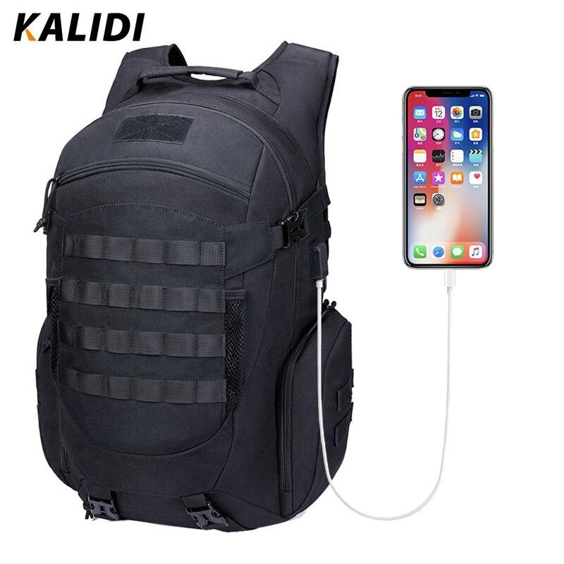 KALIDI Backpack Men Army Tactical Daybag Limbing Outdoor Bag Waterproof Laptop Backpack Hiking Camping Hunting Travel Backpacks