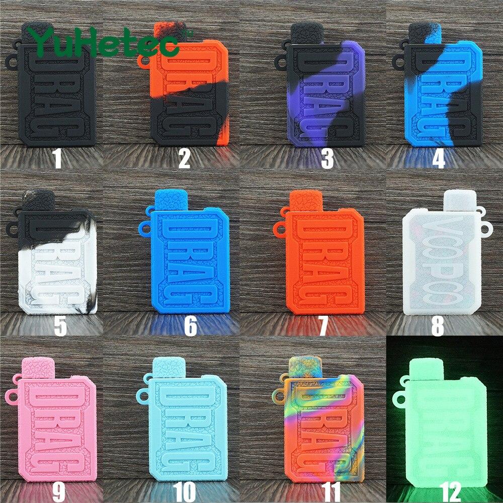 1PCS YEHETEC Silicone Protective Gel Skin Case Cover For VOOPOO DRAG Nano Pod 750mAh Battery