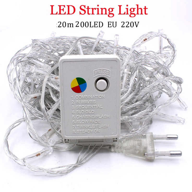 10M 10 20 50 100 LED Starry String battery Lights Fairy Micro LED Transparent Copper Wire for Party Christmas Wedding 9 colors(China)