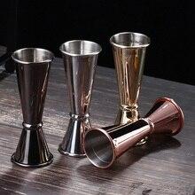 Коктейльная мерная чашка из нержавеющей стали, аксессуары для бара, двойной кухонный наконечник, измерительная чашечка, мерная чашка для барного джиггера