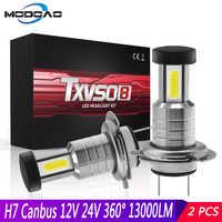 2pcs H7 Headlight LED CANBUS 12V 24V 110W Headlights 26000LM 6000K Conversion Kit Bulb High/Low Beam 360 Degree Car Headlamp