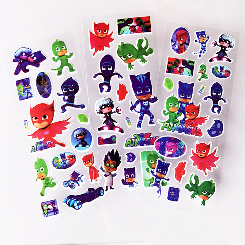 PJ Masks Toys Stickers Catboy Owlette Gekko Party Birthday Children's Cartoon Sticker Anime Figures Model Toy