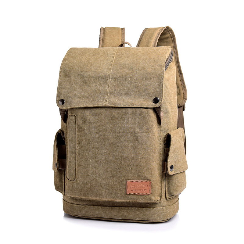 Cross Border Supply of Goods Canvas Bag Retro WOMEN'S Bag Backpack Male STUDENT'S School Bag Fashion Casual Outdoor Backpack
