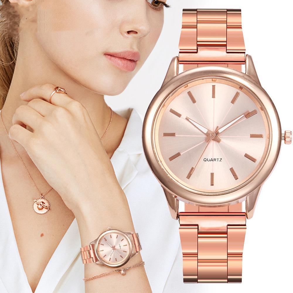 Современная мода, браслет из нержавеющей стали, повседневные наручные часы для женщин, кварцевые часы для женщин, повседневные часы от веду...