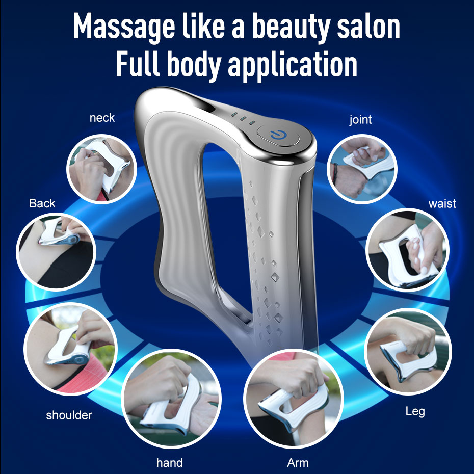 Electric Muscle Massager NMES Therapy Fascia Massage Gun Deep Vibration Muscle Relaxation Fitness Slimming Shaping Pain Relief 5
