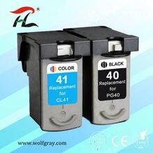 2pcs PG40 CL41 PIXMA Cartucho de Tinta Compatível Para Canon PG CL 40 41 iP1600 iP1200 iP1900 MP140 MP150 MX300 MX310 MP160 impressoras