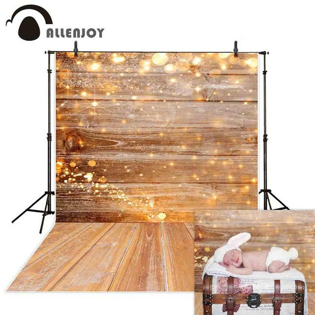 Allenjoy Wood photography backdrop wedding Christmas bokeh glitter background photo studio child baby photophone photocall prop