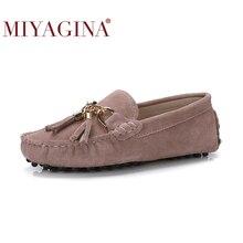 MIYAGINA 2020 New Arrival przypadkowi buty damskie prawdziwa skóra bydlęca skórzane damskie mokasyny mokasyny modne buty wsuwane kobiety mieszkania buty
