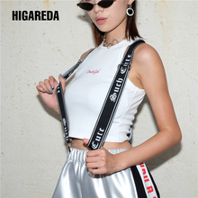 Harajuku Printed Suspenders Women Mens Unisex Trouser Straps Adjustable Braces Clip-on Pants Belt Punk