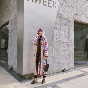 Image 2 - Женский вязаный свитер ручной работы, однотонный вязаный свитер с длинными рукавами, осенний свитер высокого качества, 2019