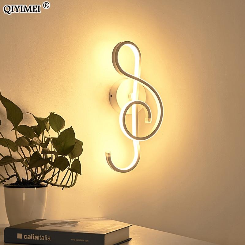 Modern Minimalist Wall Lamps Living Room Bedroom Bedside 16W AC96V-260V LED Indoor black white Lamp Aisle Lighting decoration
