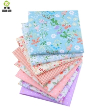 Shuanshuo Foral Patchwork Fabric Tissue Cloth Of Handmade DIY Quilting Sewing Baby&Children Sheets Dress 40*50cm 8pcs/lot