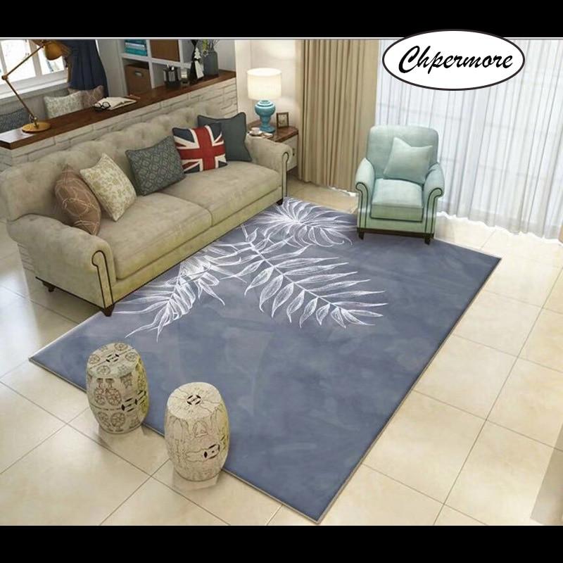 Chpermore Simple Plant Pattern Large Carpets Non-slip Tatami Mats Bedroom Home Lving Room Rug Floor Rugs Children's Non-slip Mat