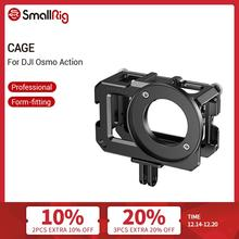 SmallRig Cage for DJI Osmo Action (Compatible with Microphone Adapter) Camera Cage With Cold Shoe Mounts  2475