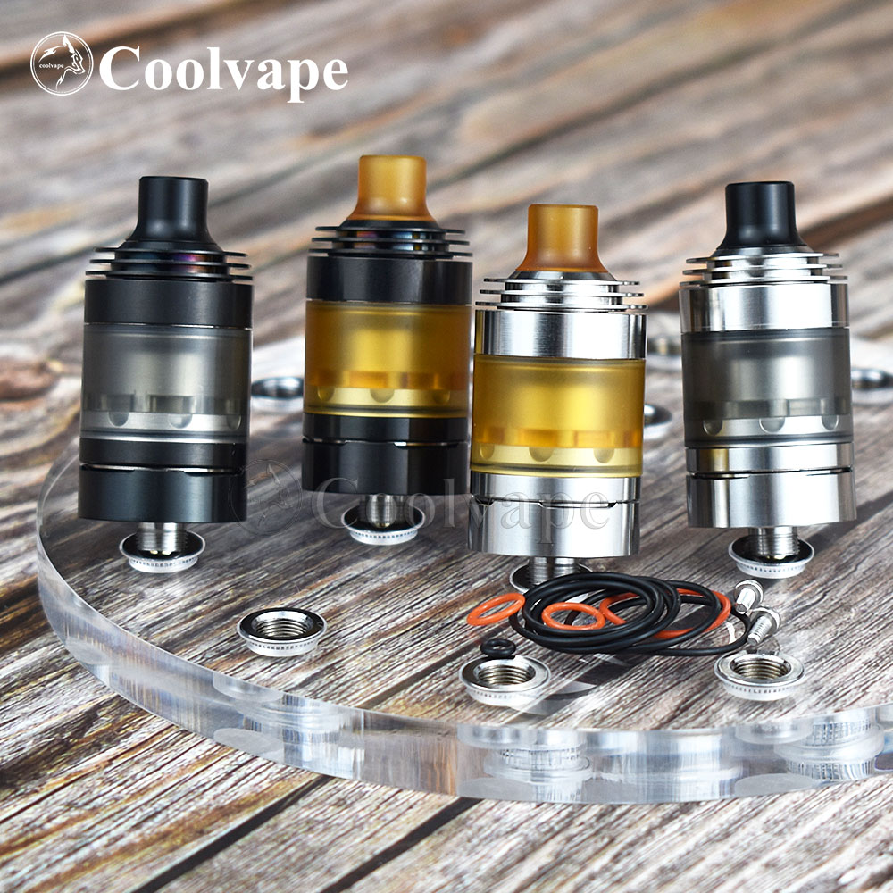 Coolvape HOT Hussar Style V1.5 RTA Mtl Rta Single Coil Airflow Control 316ss Vaporizer 22mm Rebuildable Tank Vs Roulette Mtl Rta