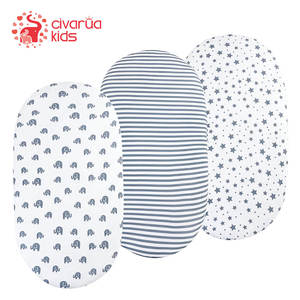 Cover Mattress-Pad Bassinet-Sheet Boys Soft Set-1-Pack Girls Stretchy Unisex Fit-For