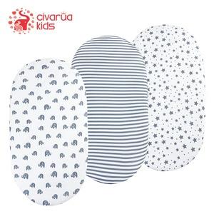 Conjunto de folhas de bassinet, 1 pacote de folhas de berço elásticas ultra macias, adequadas para colchão de berço, capa de almofada, unissex meninos e meninas