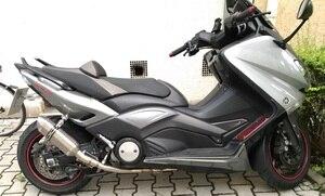 Image 4 - Motoo выхлопная труба для полной системы для Yamaha T MAX Tmax 500 530 T MAX 500 530 2008   2016 без выхлопных газов
