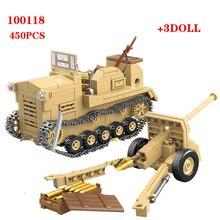 HOT 450PCS ญี่ปุ่น 98 รถแทรกเตอร์อาคารบล็อก WW2 กองทัพทหารทหารอาวุธชิ้นส่วนอิฐของเล่นสำหรับเด็กของขวัญ