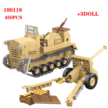 HOT 450PCS Japanese 98 type tractor Building Blocks WW2 Military Army Soldier Figures Weapon parts Bricks Toys for Children gift ww2 japanese army type 98 soldier uniform sets jacket
